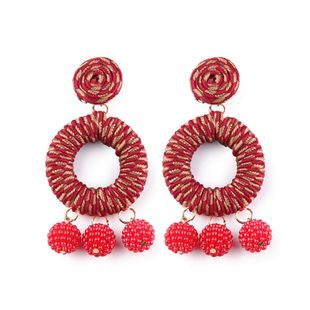 Alloy Korea Geometric earring  (red) NHJQ10400-red's discount tags