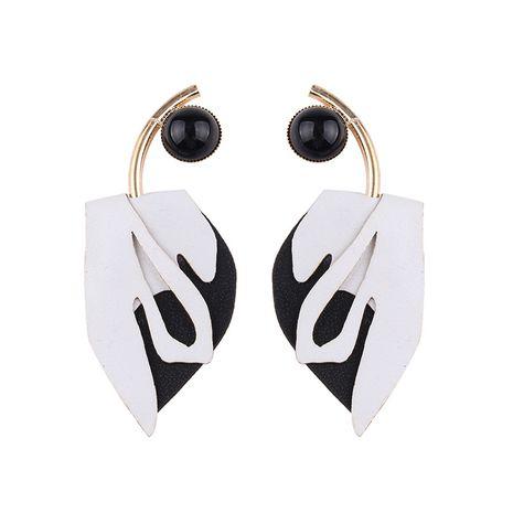 Leather Fashion Geometric earring  (white) NHJQ10418-white's discount tags