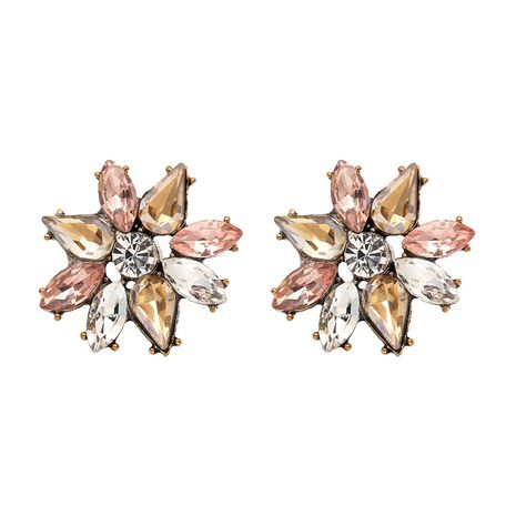 Imitated crystal&CZ Korea Flowers earring  (50981) NHJJ4911-50981's discount tags