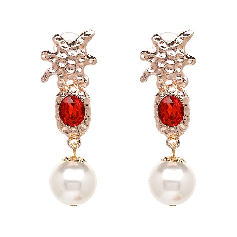 Beads Fashion Geometric earring  (red) NHJJ4914-red