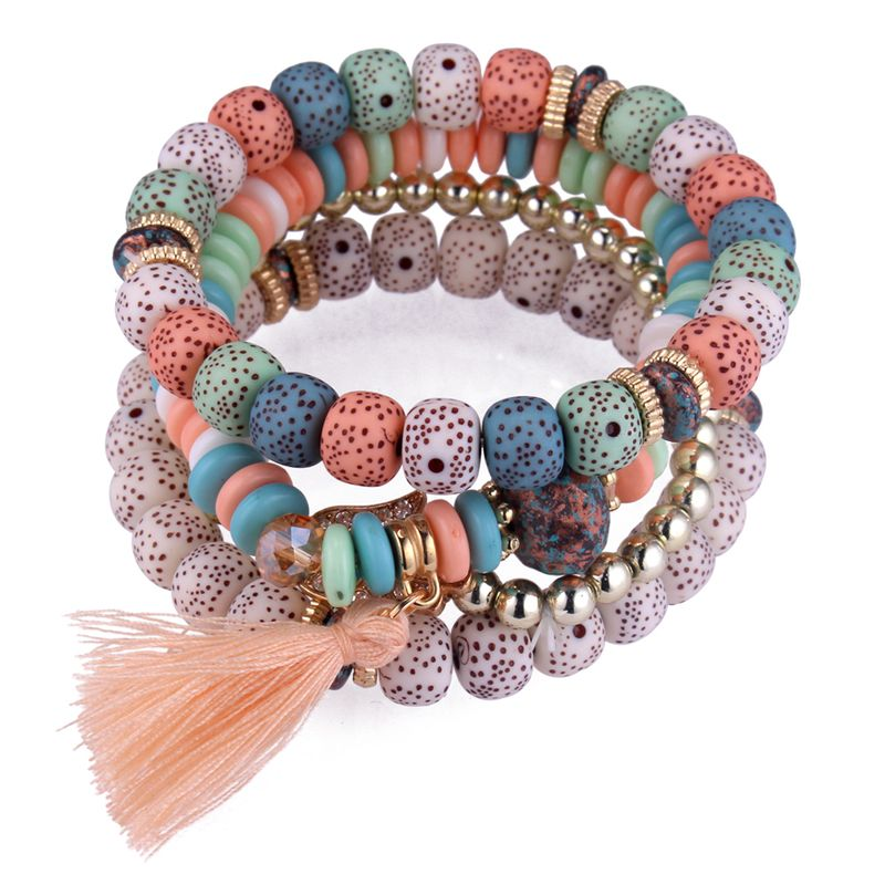 European and American fashion rhinestone hand palm fringed multi-layer bracelet (color) NHNPS4242