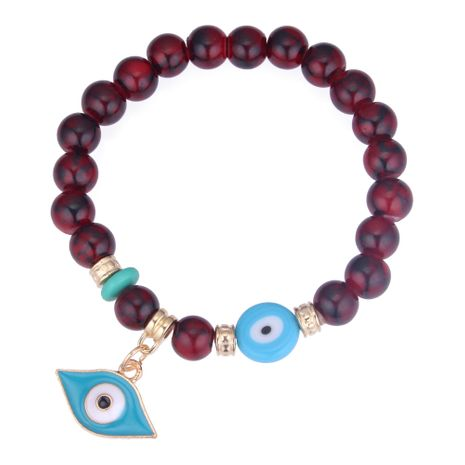 Korean Fashion Personality Eye Beaded Bracelet (Red) NHNPS4274's discount tags