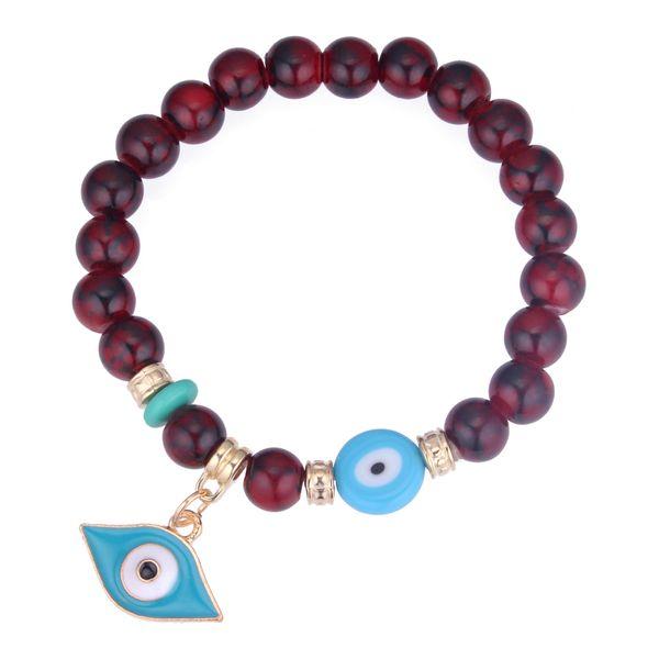 Korean Fashion Personality Eye Beaded Bracelet (Red) NHNPS4274