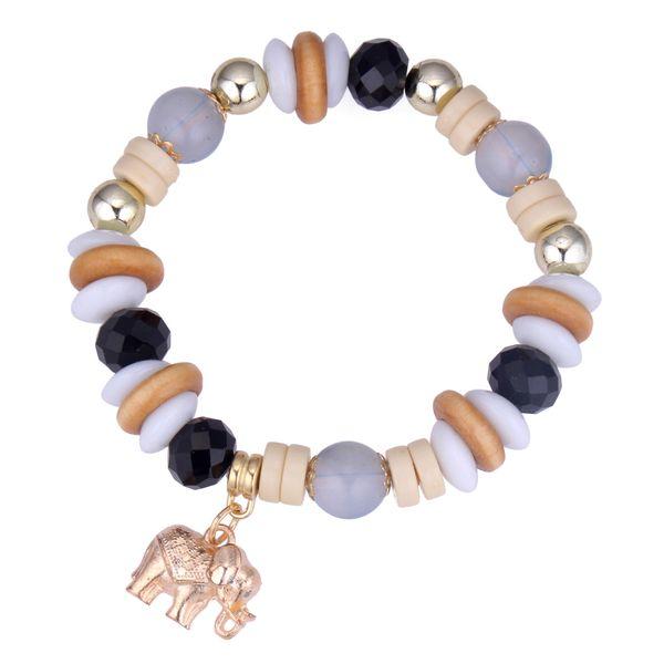 Europe and the United States retro ethnic style elephant bracelet (black) NHNPS4278
