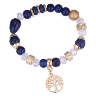 European and American fashion lucky tree beaded bracelet (blue) NHNPS4290's discount tags