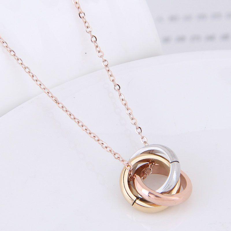 Titanium&Stainless Steel Fashion necklace NHNSC11642