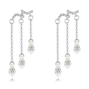 Austria Imitated crystal EarringsDrip Tender White NHKSE28373