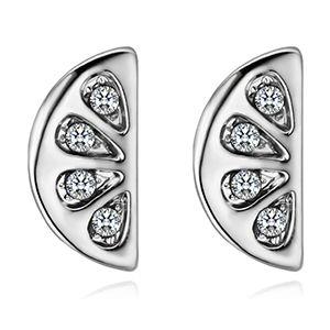 Boucles d'oreilles en cristal imité importées - Demi-vie voyantes (blanc) NHKSE28495's discount tags
