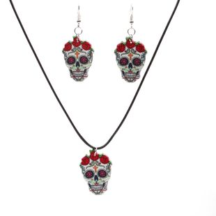 Alloy Fashion Flowers necklace  (Set) NHSK0358-Set's discount tags
