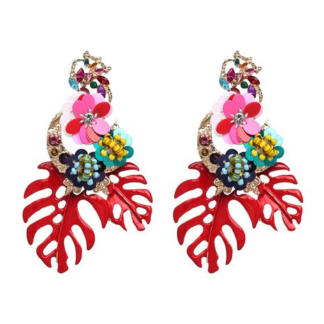 Alloy Fashion Geometric earring  (red) NHJJ4847-red's discount tags