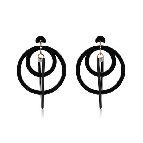 Acrylic Fashion Geometric earring  (61179427B Black) NHLP1004-61179427B-Black's discount tags