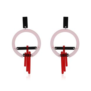 Acrylic Fashion Geometric earring  (61179428A Red and black) NHLP1008-61179428A-Red-and-black's discount tags
