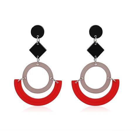 Acrylic Fashion Geometric earring  (61179430 red and black) NHLP1009-61179430-red-and-black's discount tags