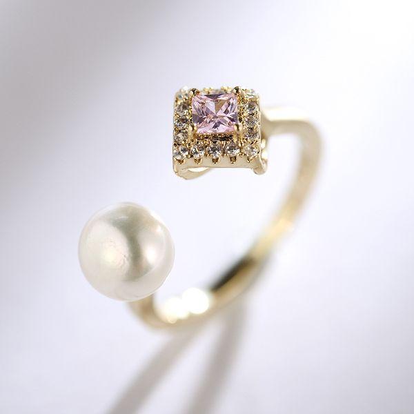 Copper Korea Geometric Ring  (Champagne alloy) NHLJ3949-Champagne-alloy