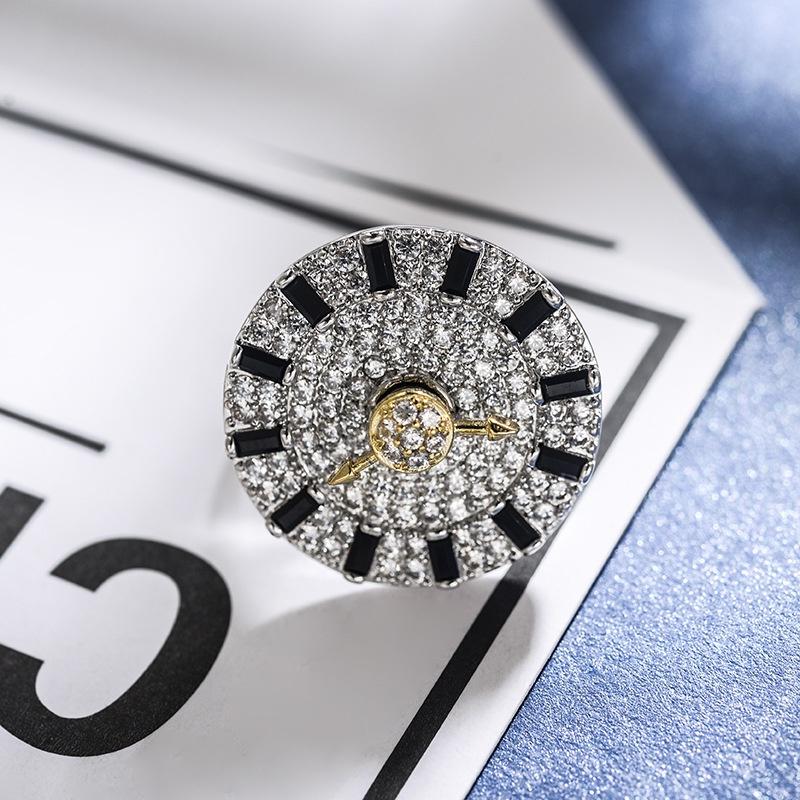 Copper Fashion Geometric Ring  (Black and white dial) NHLJ3950-Black-and-white-dial