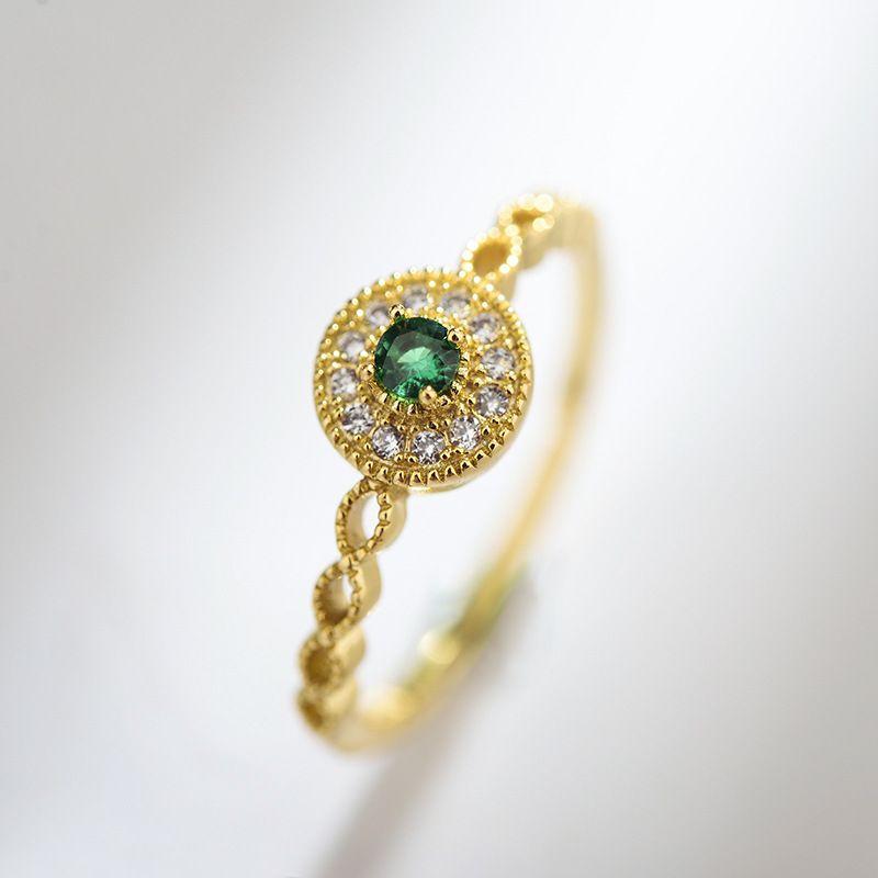 Copper Korea Geometric Ring  (Champagne alloy) NHLJ3953-Champagne-alloy