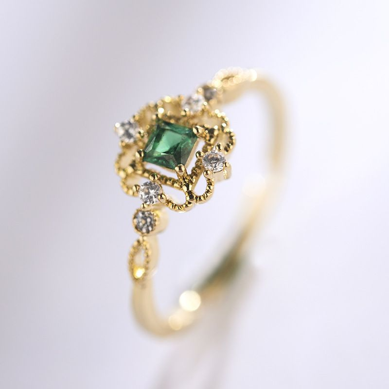 Copper Korea Geometric Ring  (Champagne alloy) NHLJ3954-Champagne-alloy
