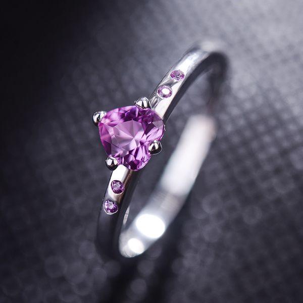 Alloy Korea Sweetheart Ring  (Alloy Red Rhinestone 15.5mm) NHLJ3959-Alloy-Red-Rhinestone-15.5mm