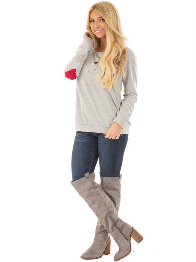 Cotton Fashion  T-shirt  (Gray-S) NHYF1473-Gray-S