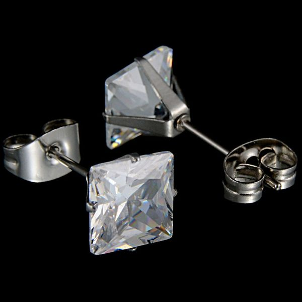 Alloy Simple Geometric earring  (Steel color 3mm) NHHF0782-Steel-color-3mm