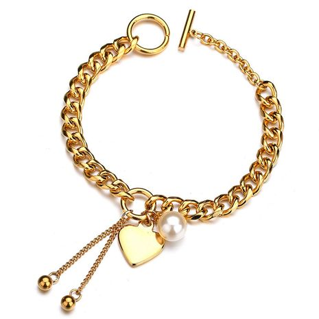 Titanium&Stainless Steel Fashion Sweetheart bracelet  (Alloy) NHHF0822-Alloy's discount tags