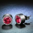 TitaniumStainless Steel Korea Geometric earring  January garnet NHHF0665Januarygarnet