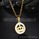 TitaniumStainless Steel Korea Geometric necklace  Crown  Steel NHHF0786CrownSteel