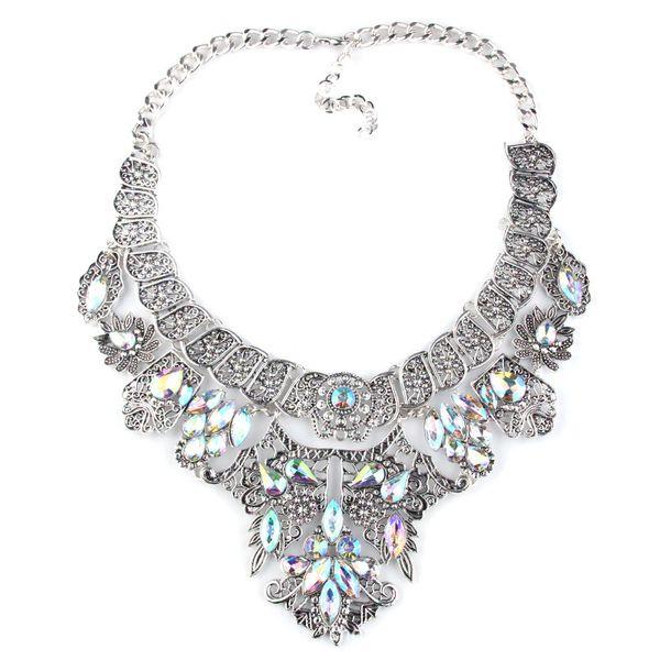 Folk-custom alloy Rhinestone necklace (Alloy)  NHJQ7553