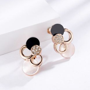 Alloy Fashion Geometric earring  (Rose alloy) NHLJ3996-Rose-alloy's discount tags