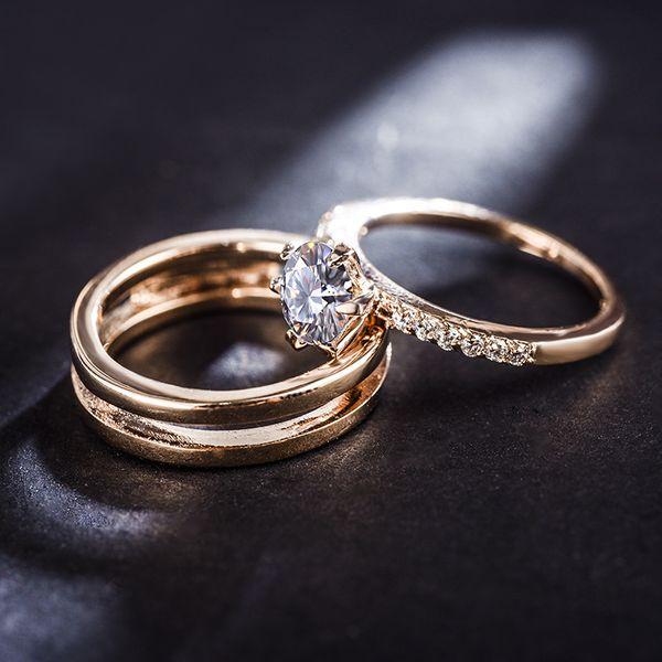 Alloy Fashion Geometric Ring  (Rose Alloy-16mm) NHLJ4001-Rose-Alloy-16mm
