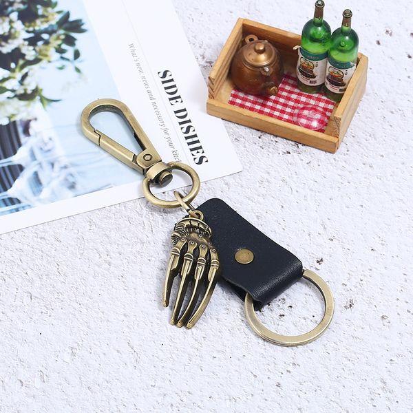 Alloy Vintage  key chain  (black) NHPK2034-black