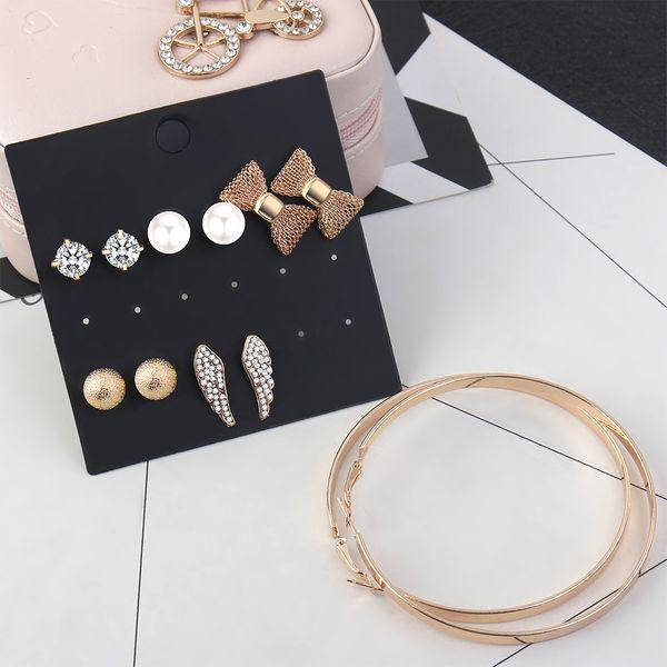 Korean fashion creative simple suit earrings NHNPS4461