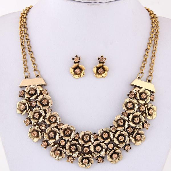 Alloy Fashion necklace NHNSC12139