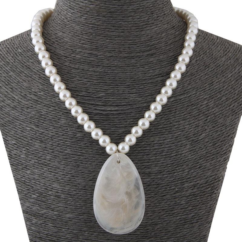 Alloy Fashion necklace NHNSC12141