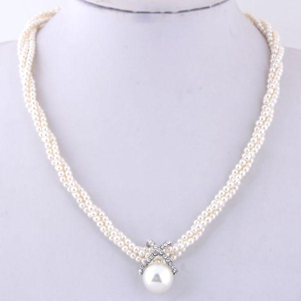Alloy Fashion necklace NHNSC12142