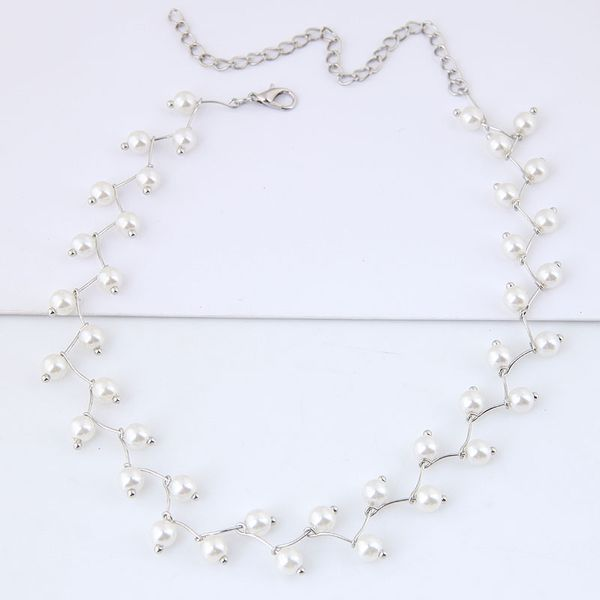 Alloy Fashion necklace NHNSC12145