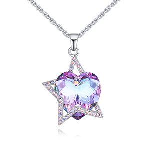 Austria Imitated crystal Necklace  Starlight Starlight NHKSE28556