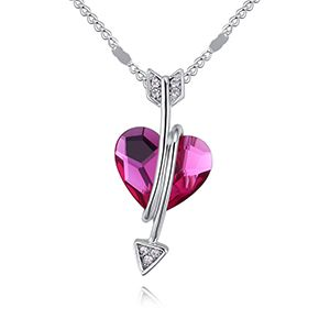Austrian Imitated crystal Necklace  Hearts and Arrows Purple NHKSE28604