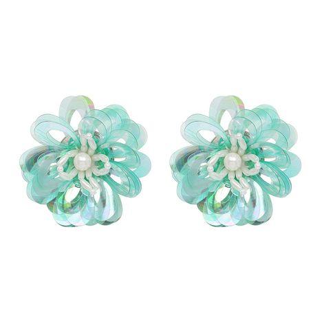Plastic Bohemia Flowers earring  (green) NHJJ4950-green's discount tags