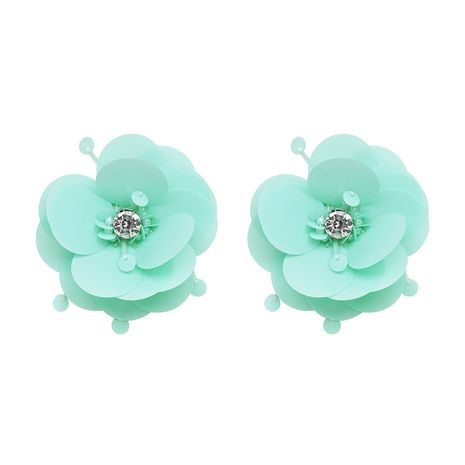 Plastic Bohemia Flowers earring  (green) NHJJ4954-green's discount tags