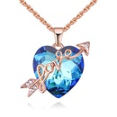 Austria Imitated crystal Necklace  Love Love Sea Rose Alloy + Color White NHKSE28559