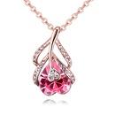 Austria Imitated crystal Necklace  Warm Heart Language Rose Alloy + White NHKSE28540