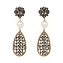Alloy Fashion Geometric earring  Alloy + Black NHJJ4941AlloyBlack