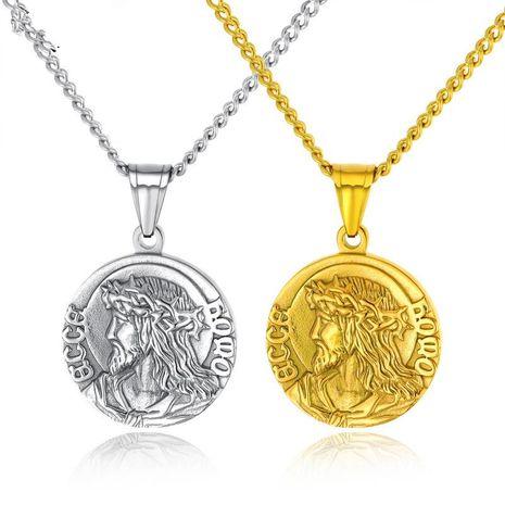 Titanium&Stainless Steel Fashion Geometric necklace  (Steel pendant) NHOP2739-Steel-pendant's discount tags
