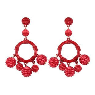 Alloy Fashion Geometric earring  (red) NHJQ10495-red's discount tags