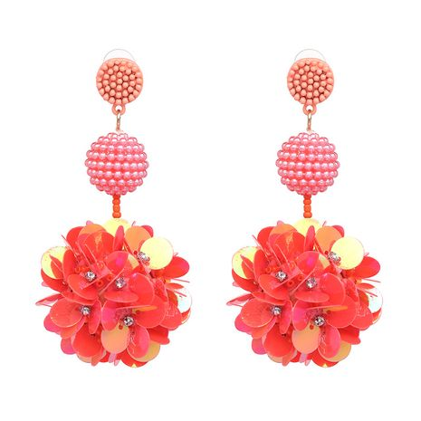 Plastic Fashion Flowers earring  (red) NHJJ4960-red's discount tags