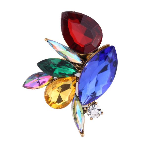 Occident and the United States alloy Rhinestone Rings (color) NHJQ7091