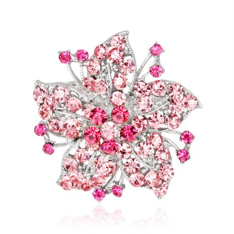 Korea Alloy Rhinestone brooch Flowers (AC141-A)  NHDR2176's discount tags