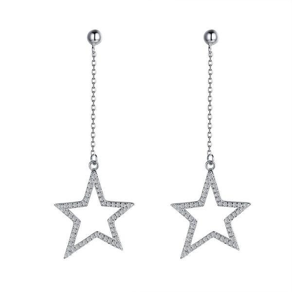 Platinum Plated  Dangle Earrings NHKL12757