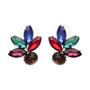 Other Imitated crystal&CZ  earring Flowers (color)  NHJJ3762-color's discount tags